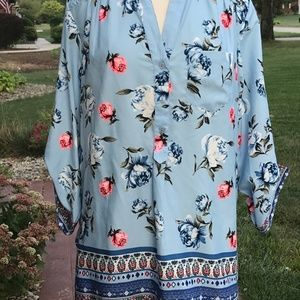 Live 4 Truth High low Floral Print Blouse (XL)